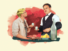 Серия иллюстраций для водочной этикетки