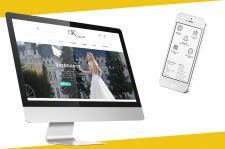 Дизайн сайта для салона свадебных платьев