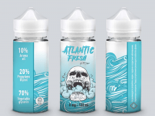 Этикетка для жидкости - Atlantic fresh