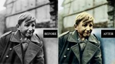 Оцветнение старого фото