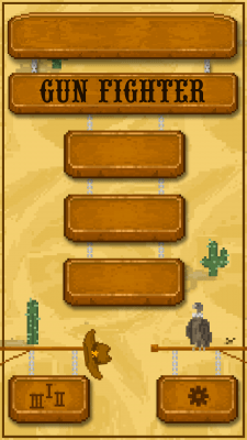 Gun Fighter Mobile Game UI Sprites.
