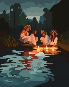 Иллюстрация на праздник Ивана Купала