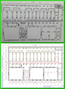 Векторизация, план здания