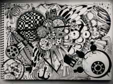 Ескіз, А4, маркер