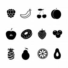 Иконки фрукты