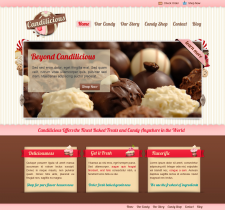 WEB-design for cake