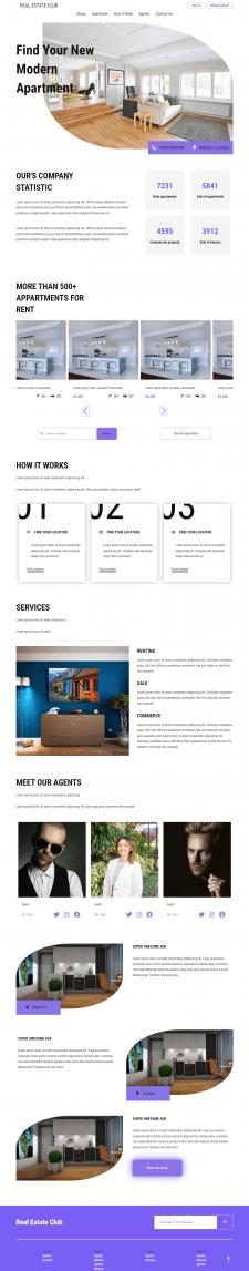 Адаптивный сайт риелторских услуг