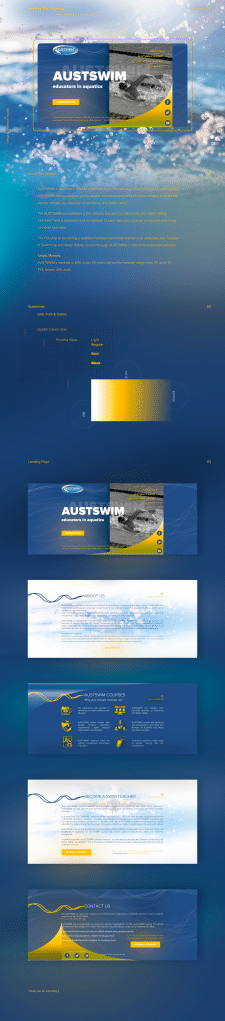 Project AUSTSWIM Landing Page for Australian comp