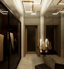 Дизайн и визуализация коридора для частного дома.