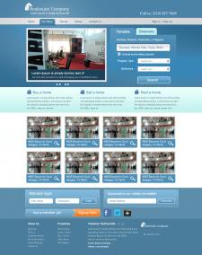 Макет сайта недвижимости
