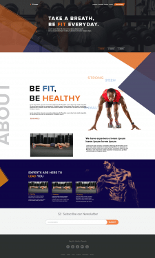 Be Fit Landing Page