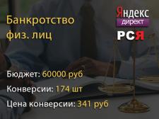 Банкротство физ. лиц. - Яндекс Директ