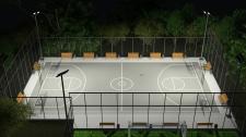 Баскетбольная площадка в парке Победы