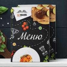 "Разработка дизайна меню ""LE MANS"""