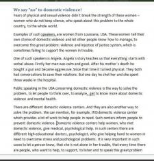 Домашнее насилие. Копирайтинг на английском