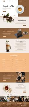 Landing page cafe
