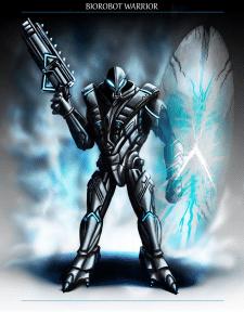 Work on the Character / Biorobot Warrior