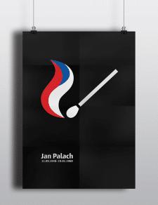 Плакат про Яна Палаха