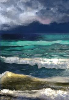 Digital2d Sea waves
