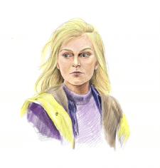 Иллюстрация девушки ( corel painter )