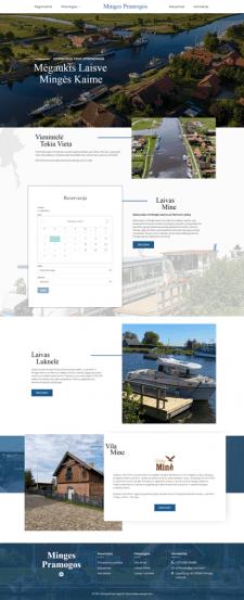 Сайт с бронированием тур поездок на лодках в Литве