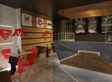 Дизайн Comics cafe