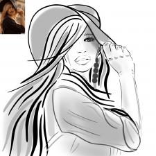 Девушка с шляпкой