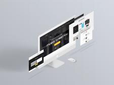 Лендинг на чистом HTML/CSS