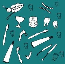 векторная иллюстрация на тему стоматология