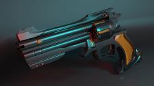 Cyberpunk revolver