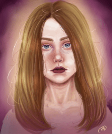 Digital portret (Портрет в Paint Tool Sai)