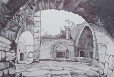 Рисунок старого города графика