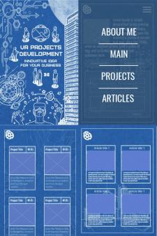 Мобильная версия дизайна сайта для фрилансера