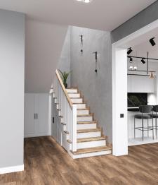 Дизайн проект лестницы в коридоре