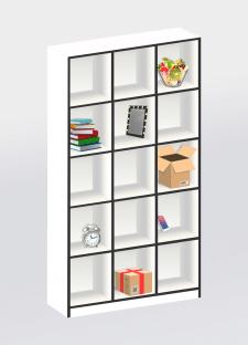 Визуализация (макет) шкафа 2000х120