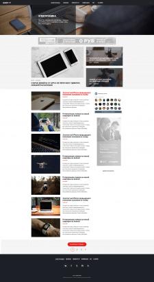 Страница категории новостного сайта
