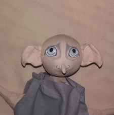 Кукла-варежка, кукла для кукольного театра, Добби