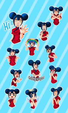 stickers girl