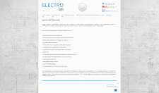 Сайт-визитка специалиста по электромонтажным работам