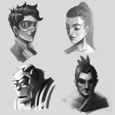 Скетчи портретов