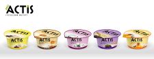 Дизайн серии упаковок йогурта