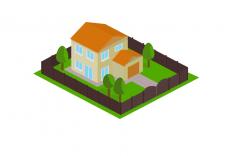 Дом в изометрии