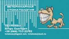 дизайн визитки ветеринарного стоматолога