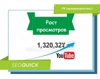 Продвижение в Ютубе – рост просмотров за 1 месяц!
