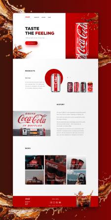 Концепт сайта Кока-Колы