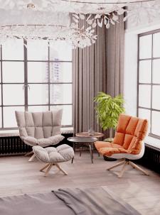 Дизайн интерьера с корона рендер