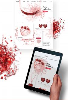 Design concept of the jewellery website
