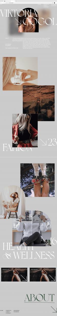 Website for model Viktoria Gogol (first concept)