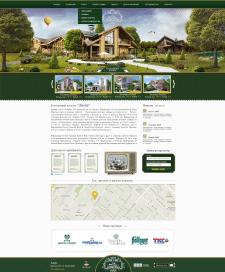 Дизайн сайта коттеджного посёлка