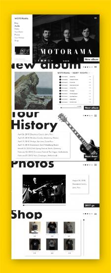 Сайт для музыкальной группы Motorama